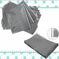 GREY POSTAGE STRONG MAILING POST POSTAL PLASTIC POLY BAGS SELF SEAL ALL SIZES