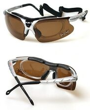 XLINE 903 Sports Sunglasses Polarized 1.1mm and Mirrored for poor eyes pad strap