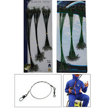 72X Lure Coated Wire Trace Pike Sea Fishing 15/20/25CM