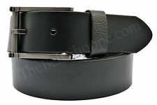 Kenneth Cole Vintage Leather Dress Belt - Black - Sizes 32 - 42 (New With Tags)