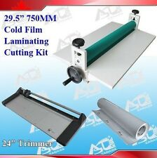 "New 29.5"" Cold Laminator +24In Rotary Paper Cutter +1 Rolls Laminating Film"