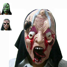 Adult Halloween Latex Mask Ghost Face Mask New Scary Party Cosplay Fancy Prop
