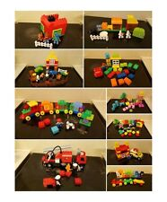 lego duplo number bricks train fire engine girl bunny pizza building car house