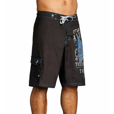 Affliction Men's Tried Fate Board Shorts Black 101BS098