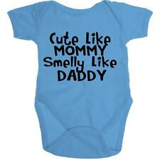 Cute Like Mommy Smelly Like Daddy Organic Onesie Baby Romper Shower Gift Infant
