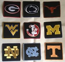 College NCAA Iron on Patches Embroidered Free Shipping ND~WV~GA~NC~FSU~M~T~Texas