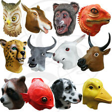 Latex Animal Head Rabbit Lizard Bear Hippo Fancy Dress Costume Props Party Mask