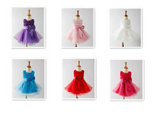 Flower Girl Princess Bow Dress Toddler Baby Wedding Party Pageant Tulle Dresses