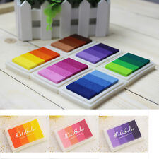 Craft Multi Colors Ink Pad Oil For Rubber Stamp Paper Wood Fabric Durable