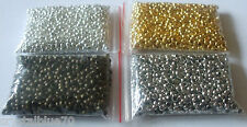 1000 pcs Crimp Beads Round  Silver / Gold / Bronze Plated  2mm, 2.5mm, 3mm