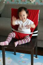 Portable Seat Cover Travel High Chair Seat Wrap Fabric Cover [Scratch Sale]