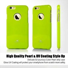 Genuine Goospery Lime Green Jelly Case Cover + Apple LOGO Cutout For iPhone 6/6s