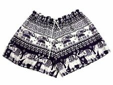 HOT WOMEN SHORTS PANTS BOHO ELEPHANT PRINT SEXY BEACH SUMMER BOXER SLEEP FASHION