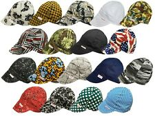 NWT Comeaux Caps Welding Welders Hat Assorted Print Reversible Sized 100% cotton