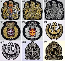 Royal Navy Anchor Crown Crest Princess Olive Embroidered Sew Iron on Patch DIY