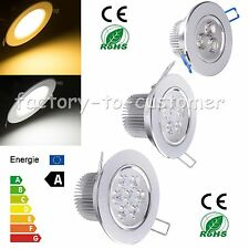 Dimmable 9W 15W 18W LED Ceiling Downlight Recessed Lamp Warm Cool White + Driver