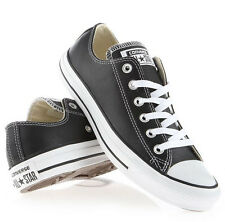 CONVERSE ALL STAR CHUCK TAYLOR LEATHER OX BLACK WHITE 132174C  CLASSIC MEN