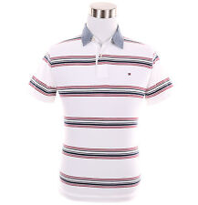 Tommy Hilfiger Men Short Sleeve Custom Fit Stripe Polo Shirt - $0 Free Ship