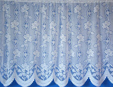 Andrea All Over Floral Design Net Curtain Jardiniere