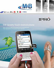 IPRO Q10 ANDROID 4.2 TOUCH SCREEN 3.5'' QWERTY UNLOCKED DUAL SIM MOBILE