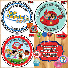 Little Einsteins Birthday Favor Stickers Water Bottle Label Address Labels Persz