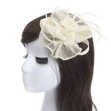 women tea party church fascinators handmade feather floral hair accessories