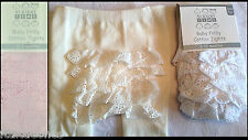 BABY GIRLS CHRISTENING/WEDDING BRODERIE ANGLAISE FRILLY BUM PLAIN KNIT TIGHTS