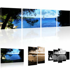 Pictures Coast of bays mural on canvas Ocean Art print Mizzen sail Segelschif
