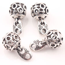 Wholesale 10/20Pcs Tibetan Silver Hollow Out Round Ball Charm Pendants 20*10mm