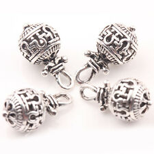 Hotsale 10/20Pcs Tibetan Silver Hollow Out Round Ball Charm Pendants 20*10mm