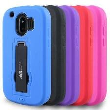 AG Duo Shield Armor Hybrid Case Defender Phone Cover for ZTE Compel Z830 (AT&T)