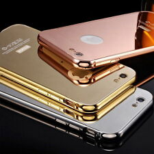 New Metal Bumper Mirror/Clear Case Cover Skin Protector fr iPhone 6 6S Plus 5/5S