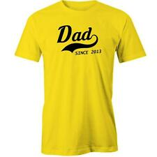 Dad Since 2013 T-Shirt Fathers Day Gift Idea Present Daddy Tee New
