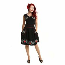 Rockabella Mindy Skirt Ladies Black Women Girls Cute Rockabilly Goth Punk Emo