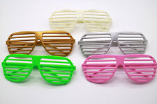 New Retro Fun Party Shutter Shades Glasses Novelty Club Aviator Fancy Dress