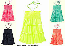 NWT Old Navy Girls' Halter Braided Tie Smocked Tube Tunic Top 5, 10-12 or 14