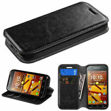 For Kyocera Hydro Icon C6730 PU Leather Flip Credit Card Wallet Stand Case Cover