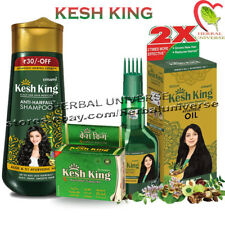Kesh King Complete Hair Loss Treatment Pack - Oil + Shampoo + Capsules