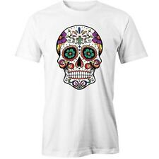 Sugar Skull Cross T-Shirt Calavera Day of the Dead Mexican Design Tee New