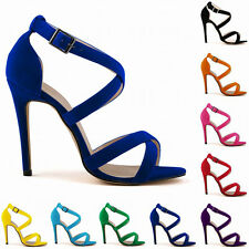 New Womens High Heel Ankle Strap Stilettos Sandals Pumps Size US 4-11