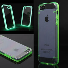 Clear Glow In The Dark Luminous Fluorescence Case Cover For iPhone or Samsung
