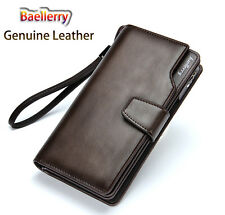 2015 baellerry real genuine leather men wallet with money clip card holder-long
