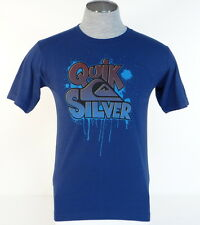 Quiksilver Signature Blue Short Sleeve Tee T Shirt Youth Boys NWT