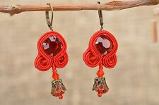 Soutache earrings handmade accessory evening jewelry present for girl