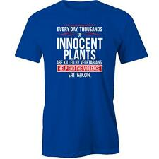 Plants Are Killed By Vegetarians, Eat Bacon T-Shirt Vegan Funny Meat Eater Tee N