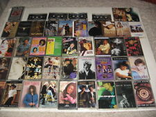 Huge  Lot of 44 vintage Audio Country Cassette tapes Brooks Patsy Shania