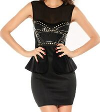 Sexy Black Sleeveless Polyester Dress.The Stunner. Med and Large