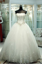 New White/ivory Wedding dress Bridal Gown custom size 6-8-10-12-14-16+++