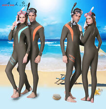 New Scuba & Snorkeling Suit Lycra Scuba Bodyskins Diving Rash Guards Jumpsuit