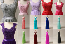 STOCK New Hot Bridesmaid Chiffon Formal Prom Party Ball Evening Dress Size 6-22